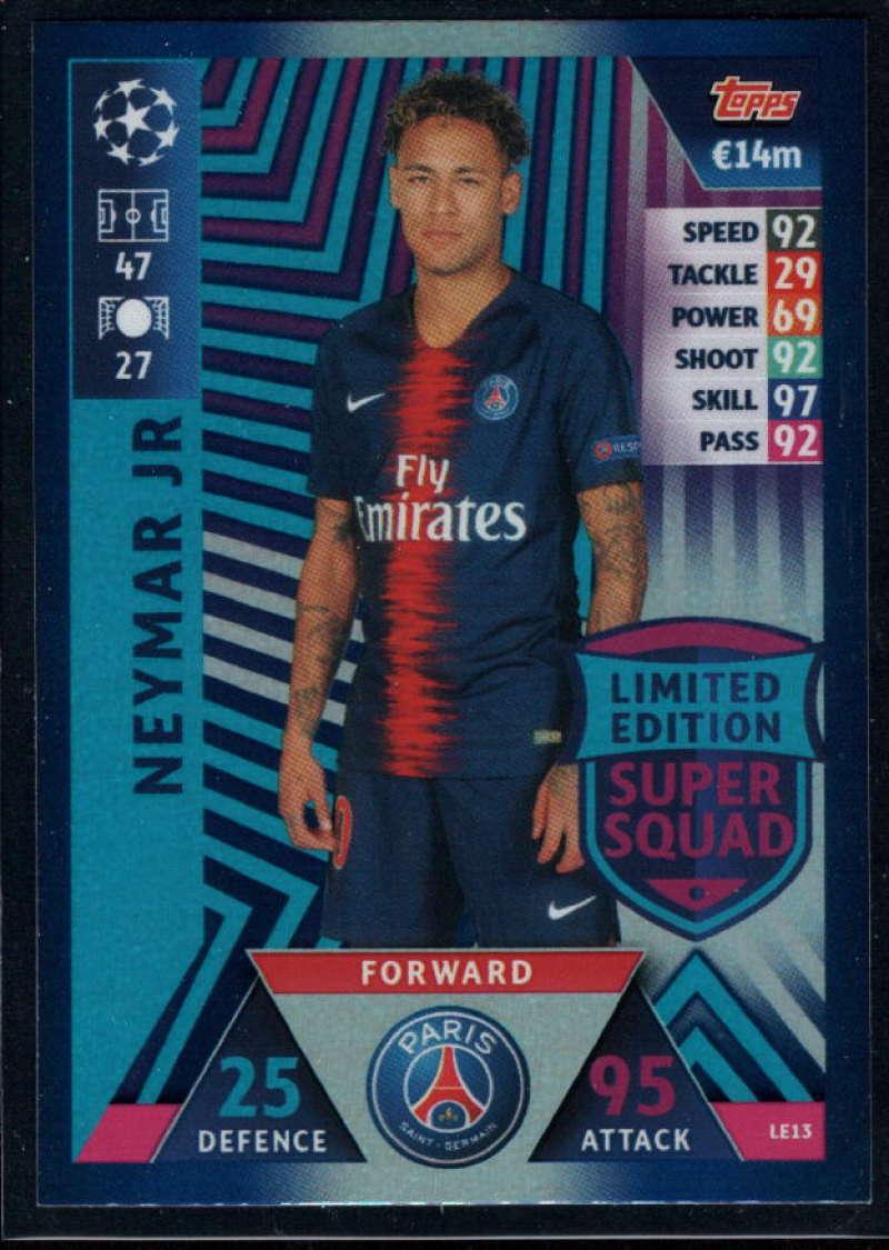 2018-19 Topps UEFA Champions League Match Attax Limited Edition Super Squad #LE13 Neymar Jr NM-MT+ Paris Saint-Germain