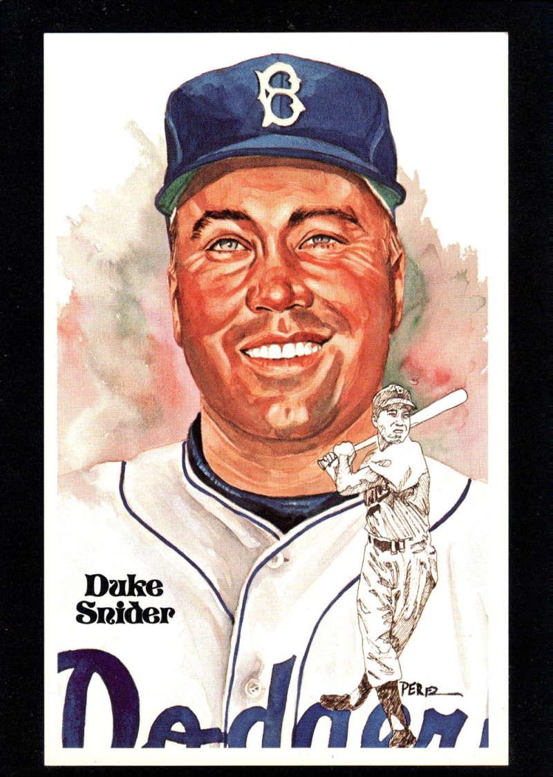 1980 Perez-Steele Hall of Fame Series 1-15 #172 Duke Snider NM-MT /10000 Brooklyn Dodgers