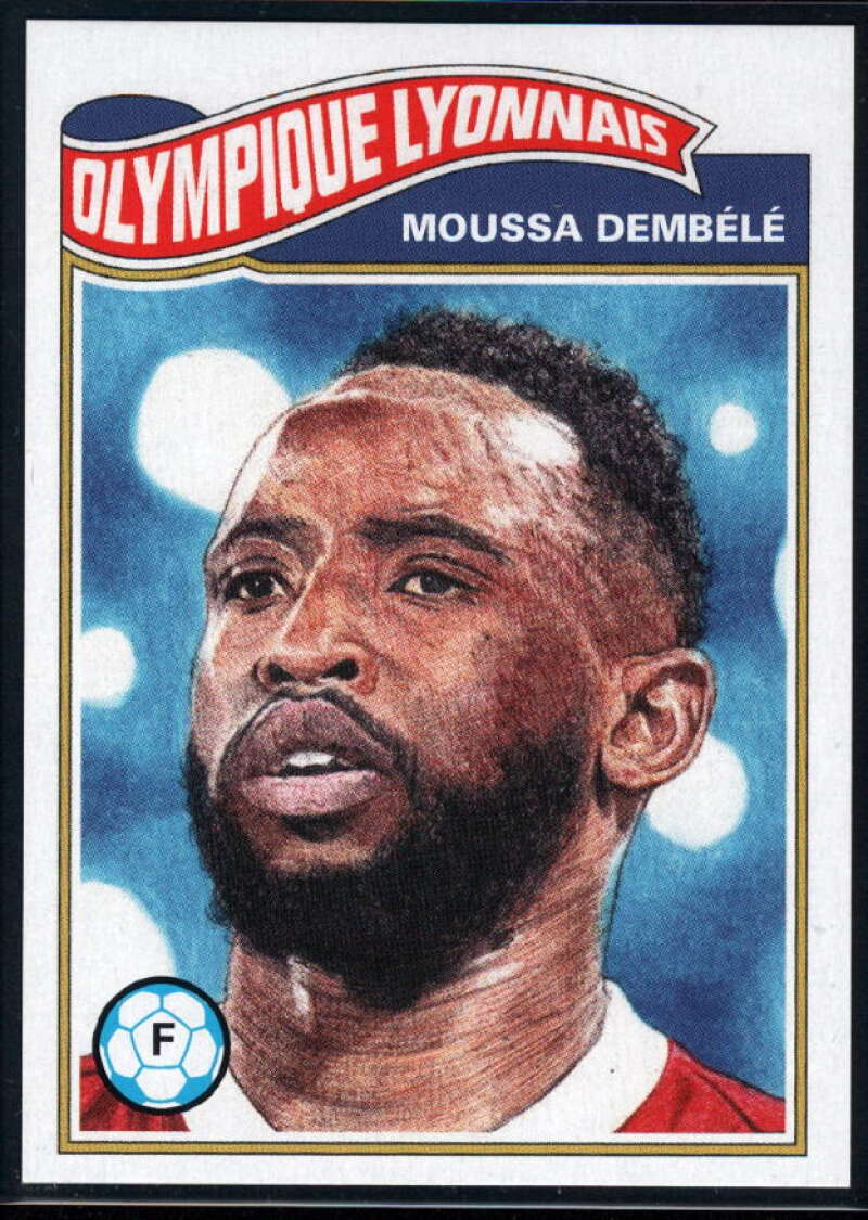 2020 Topps Living Set UEFA Champions League #157 Moussa Dembele NM-MT+ Olympique Lyonnais