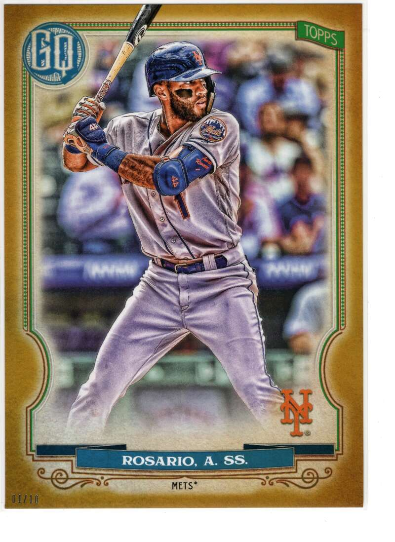 2020 Topps Gypsy Queen 5x7 Gold #126 Amed Rosario NM-MT+ /10 New York Mets