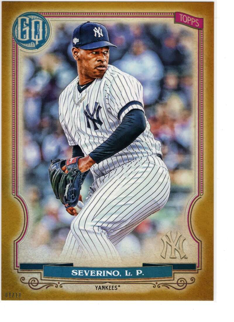 2020 Topps Gypsy Queen 5x7 Gold #142 Luis Severino NM-MT+ /10 New York Yankees