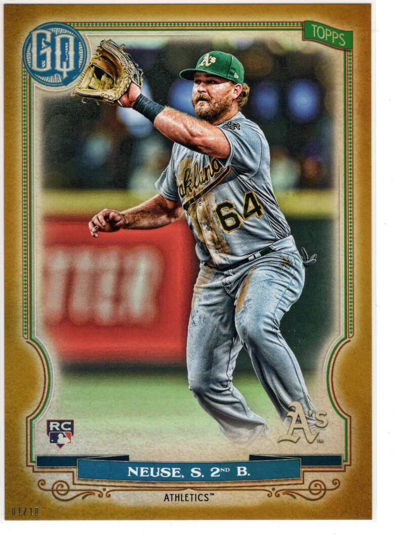 2020 Topps Gypsy Queen 5x7 Gold #217 Sheldon Neuse NM-MT+ /10 Oakland Athletics