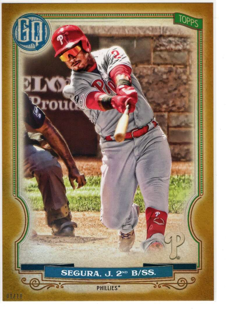 2020 Topps Gypsy Queen 5x7 Gold #181 Jean Segura NM-MT+ /10 Philadelphia Phillies