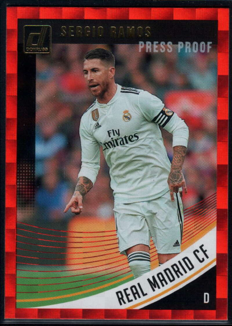 2018-19 Donruss Press Proof Red #31 Sergio Ramos NM-MT+ Real Madrid CF