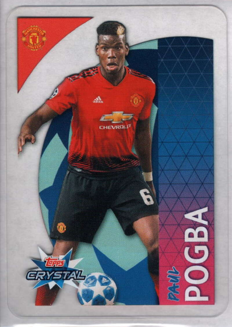 2018-19 Topps UEFA Champions League Crystal #43 Paul Pogba NM-MT+ Manchester United