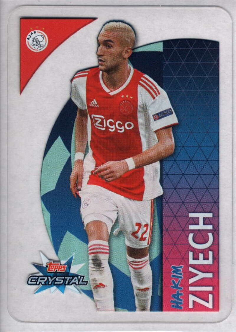 2018-19 Topps UEFA Champions League Crystal #98 Hakim Ziyech NM-MT+ Ajax