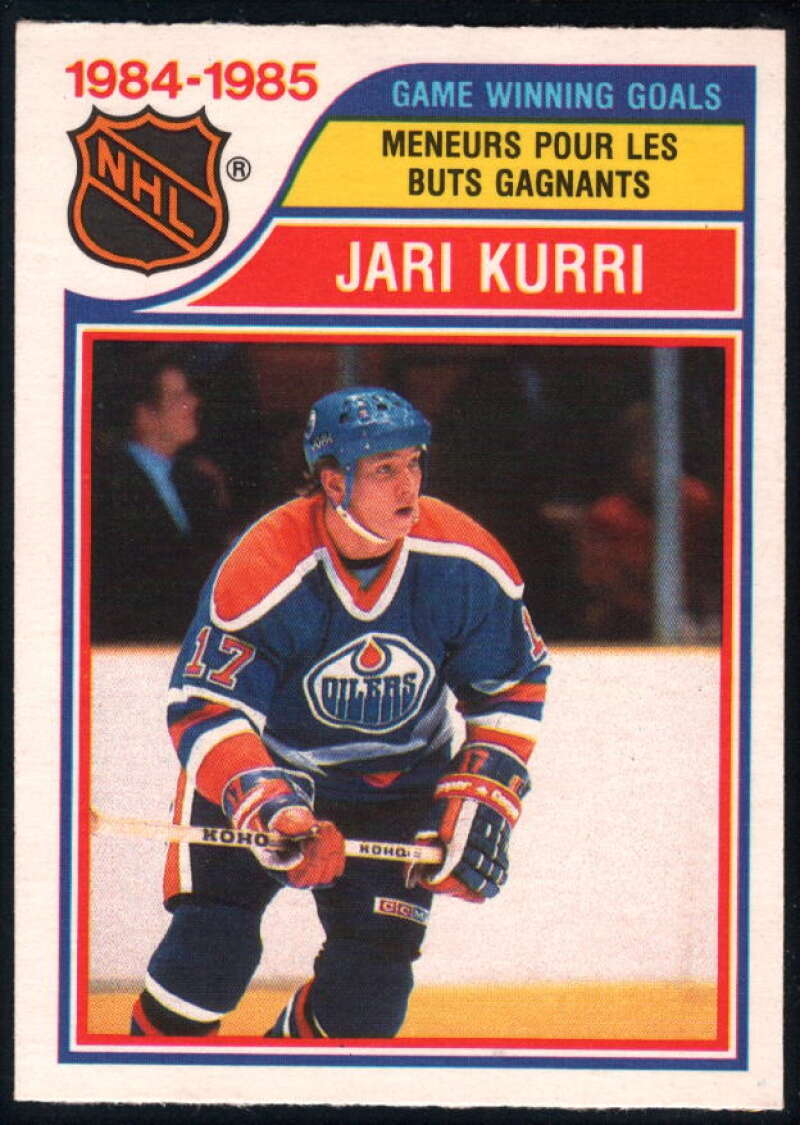 1985-86 O-Pee-Chee #261 Jari Kurri LL NM-MT Edmonton Oilers