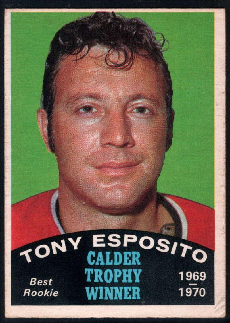 1970-71 O-Pee-Chee #247 Tony Esposito EX Excellent Chicago Blackhawks