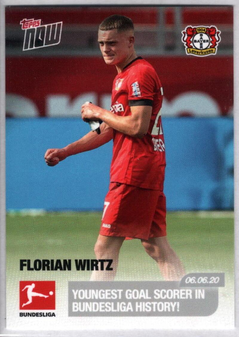 2020 Topps Now Bundesliga #170 Florian Wirtz /2141 Bayer 04 Leverkusen