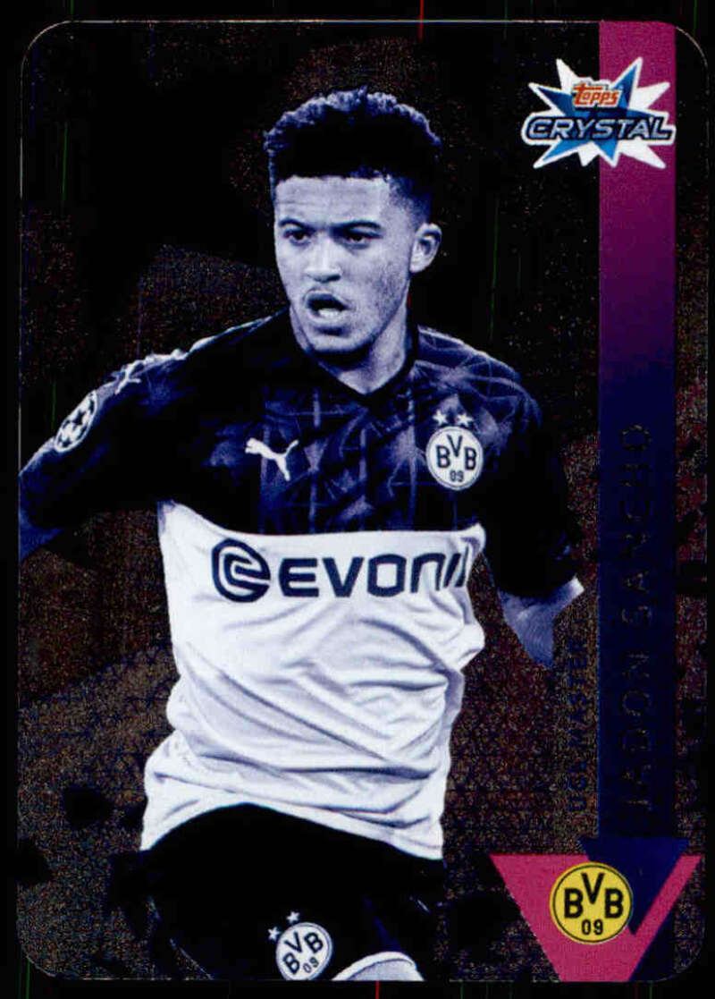 2019-20 Topps UEFA Champions League Crystal #107 Jadon Sancho NM-MT+ Borussia Dortmund