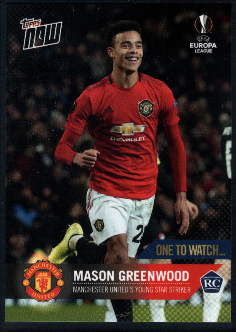 2020 Topps Now UEFA Champions League #59 Mason Greenwood RC Manchester United