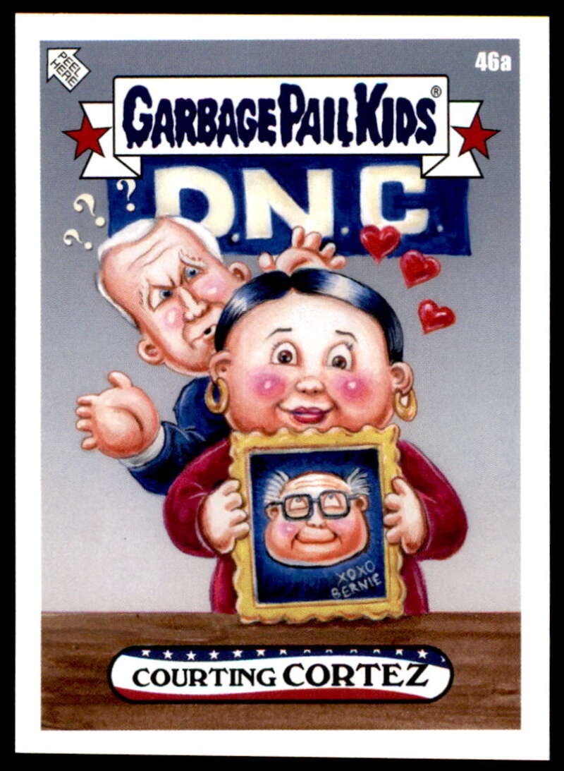 2020 Topps Garbage Pail Kids disg-Race to the White House #46A Courting CORTEZ NM-MT+