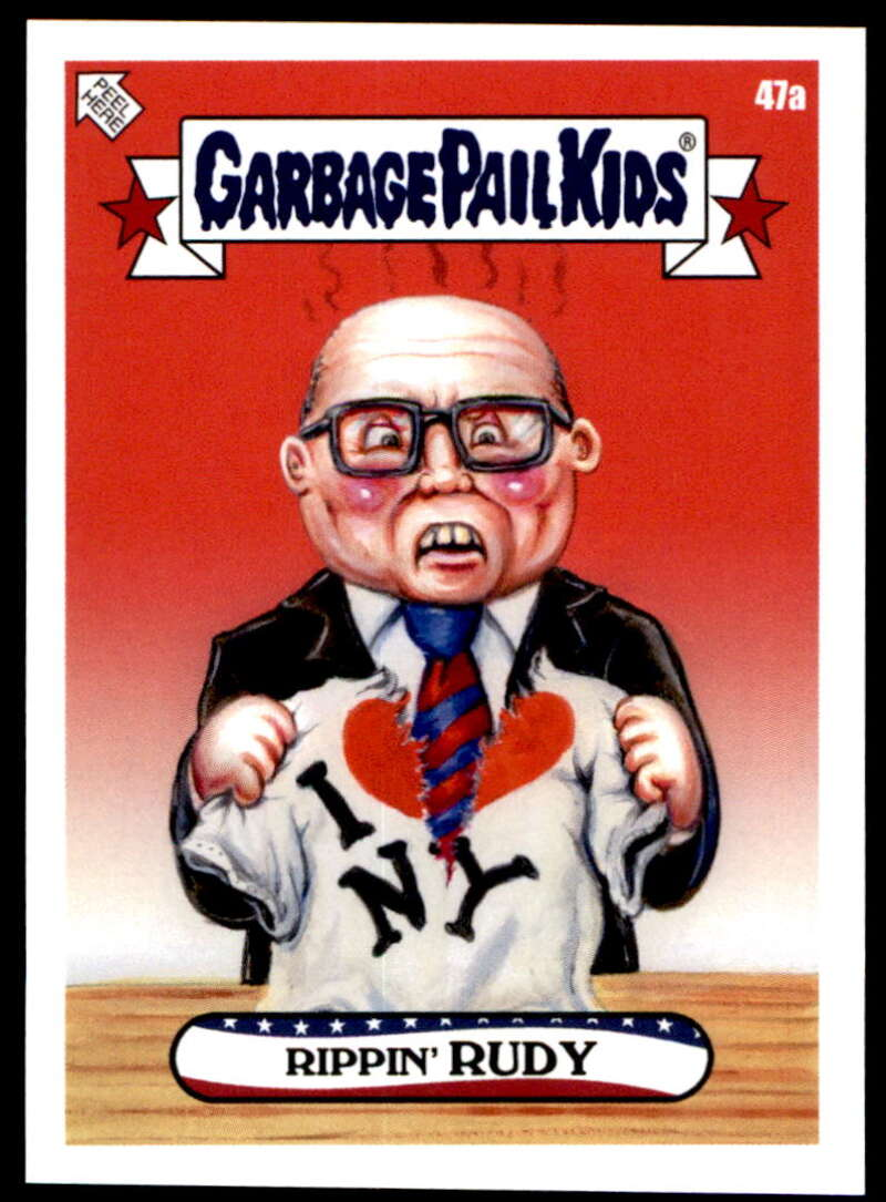 2020 Topps Garbage Pail Kids disg-Race to the White House #47A Rippin' Rudy NM-MT+