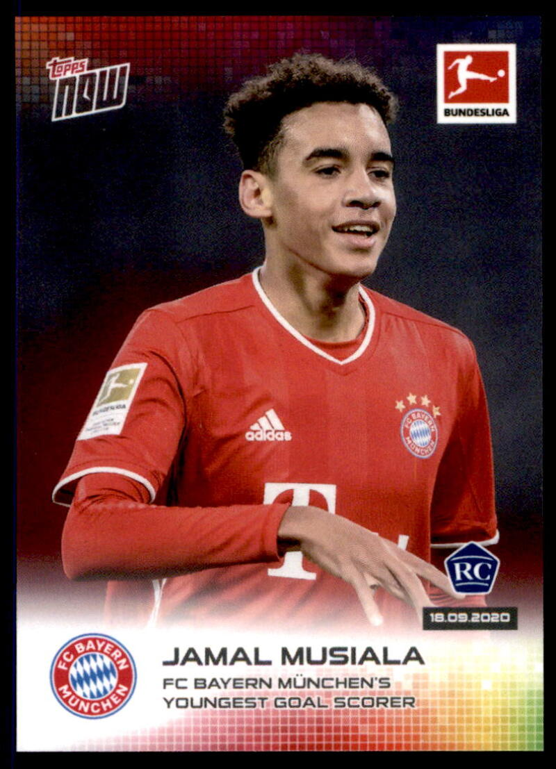 2020-21 Topps Now Bundesliga #6 Jamal Musiala RC /5104