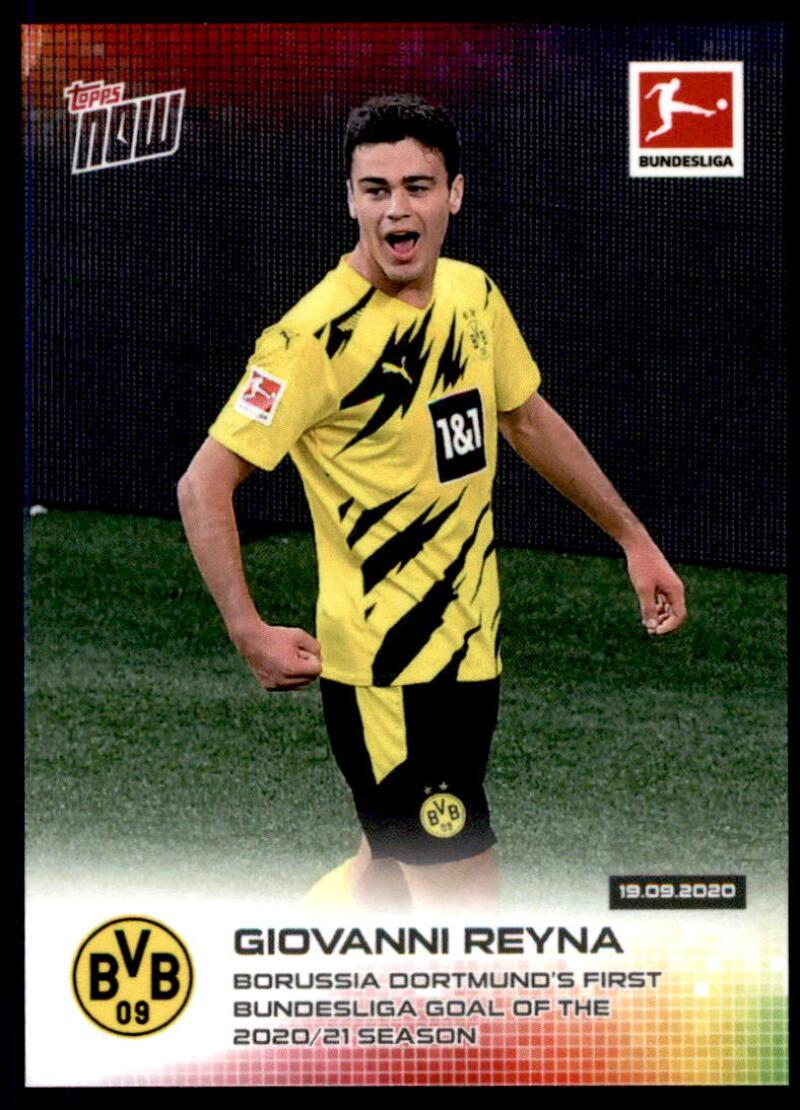 2020-21 Topps Now Bundesliga #5 Giovanni Reyna /2675