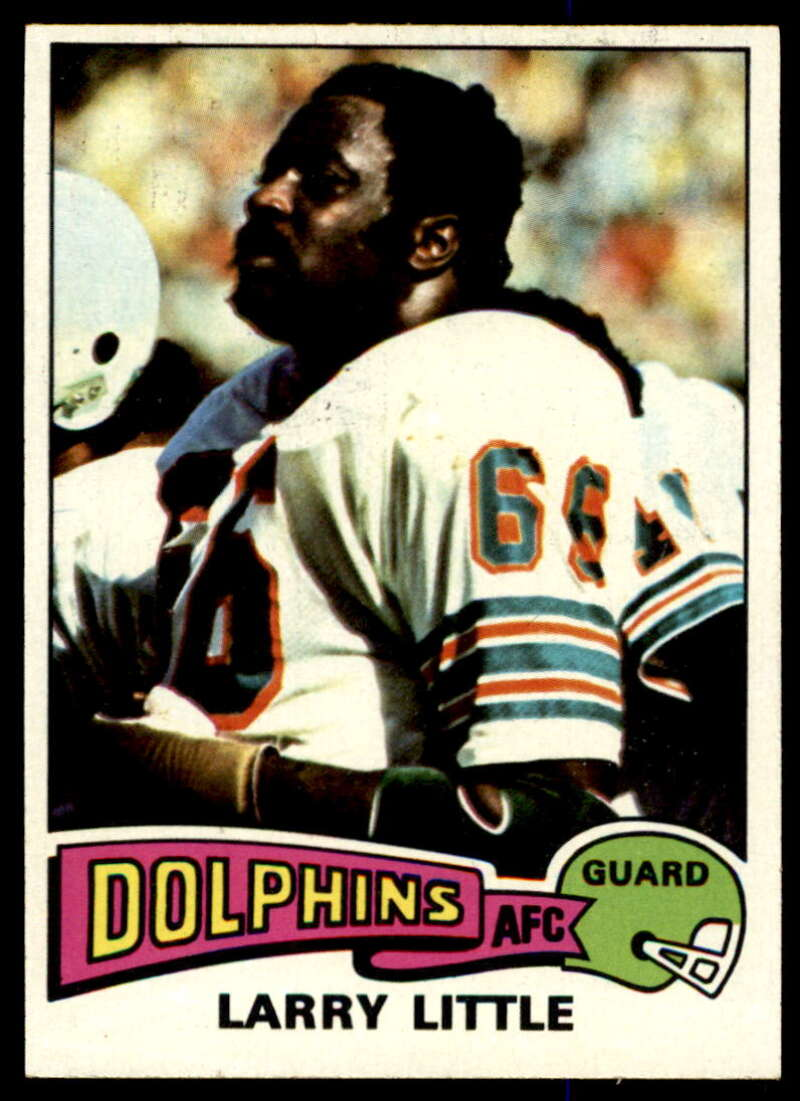 1975 Topps #499 Larry Little NM Near Mint Miami Dolphins