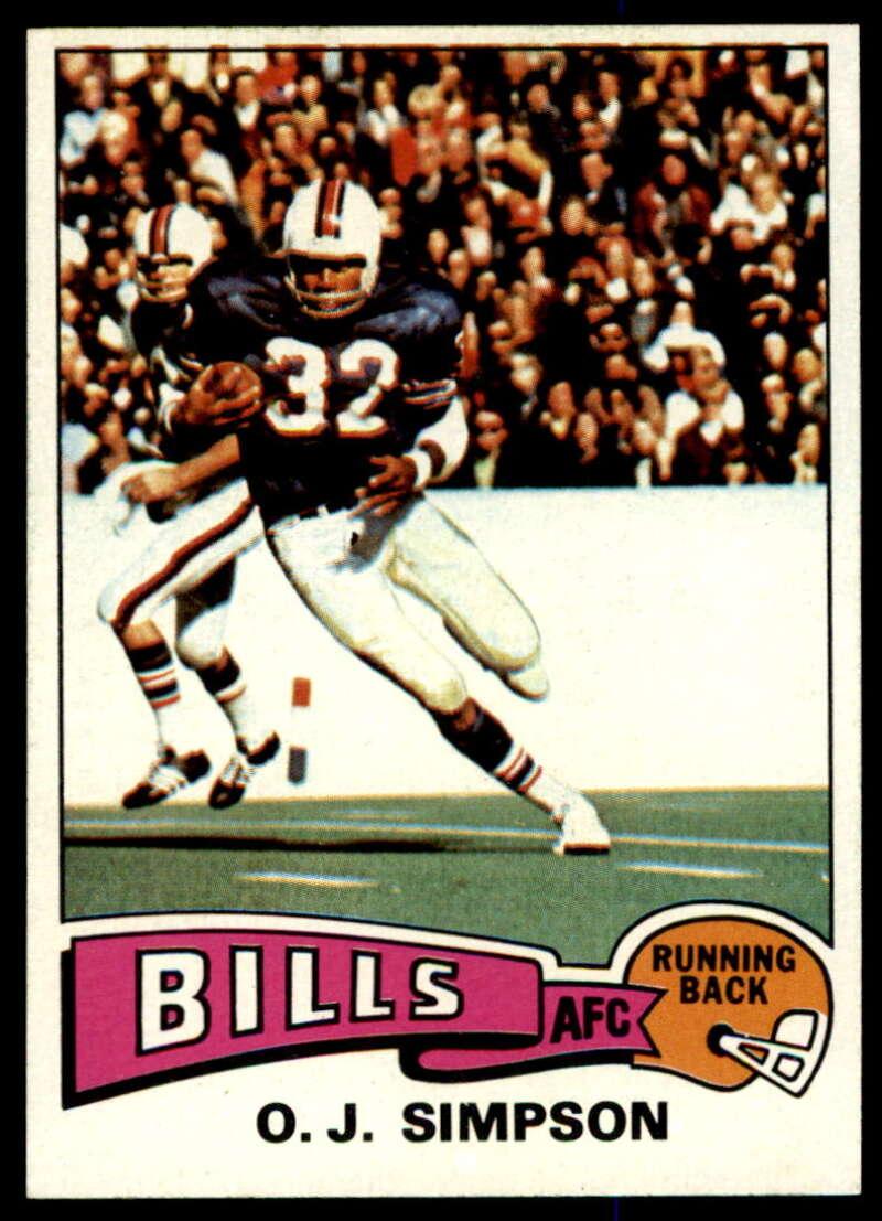 1975 Topps #500 O.J. Simpson NM Near Mint Buffalo Bills