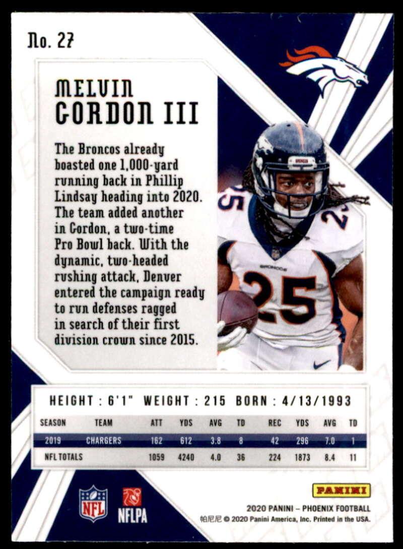 2020 Panini Phoenix Fire Burst #26 Drew Lock Denver Broncos Football Card