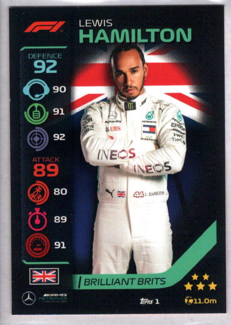 2020 Topps Turbo Attax Formula 1 #1 Lewis Hamilton NM-MT+ Mercedes