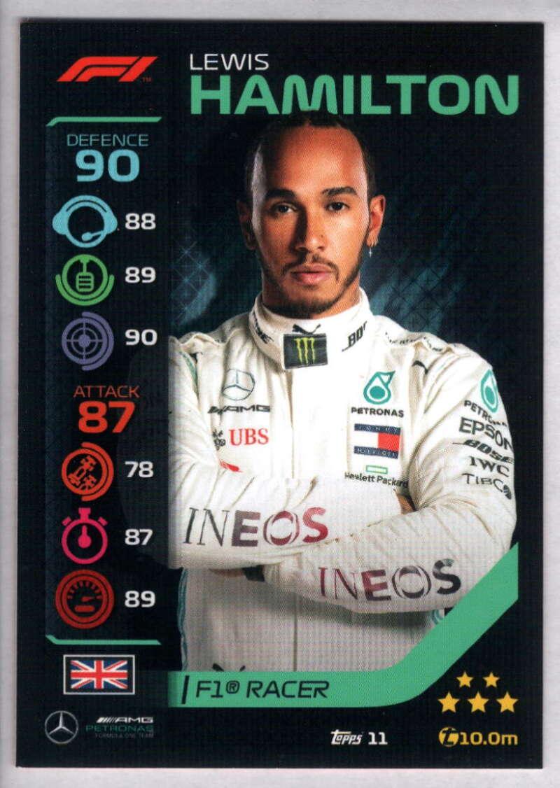 2020 Topps Turbo Attax Formula 1 #11 Lewis Hamilton NM-MT+ Mercedes