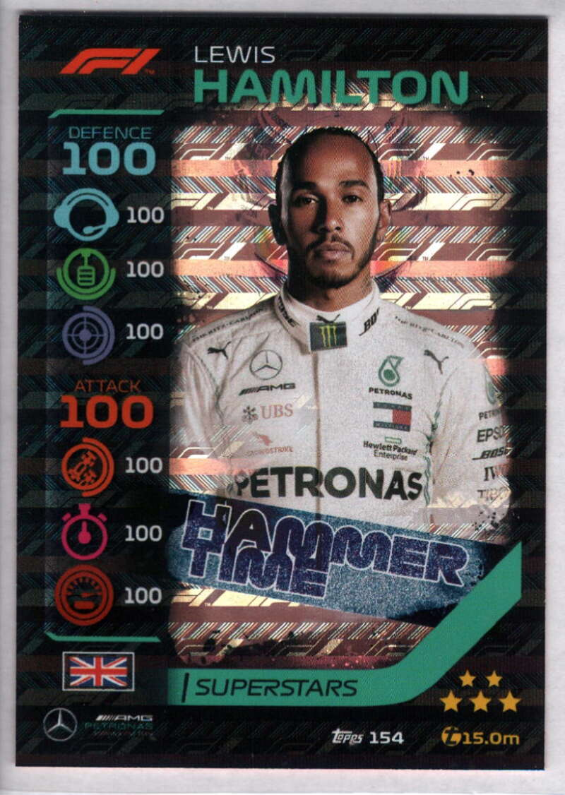 2020 Topps Turbo Attax Formula 1 #154 Lewis Hamilton NM-MT+ Mercedes