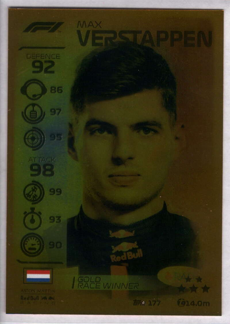 2020 Topps Turbo Attax Formula 1 #177 Max Verstappen NM-MT+ Red Bull Racing