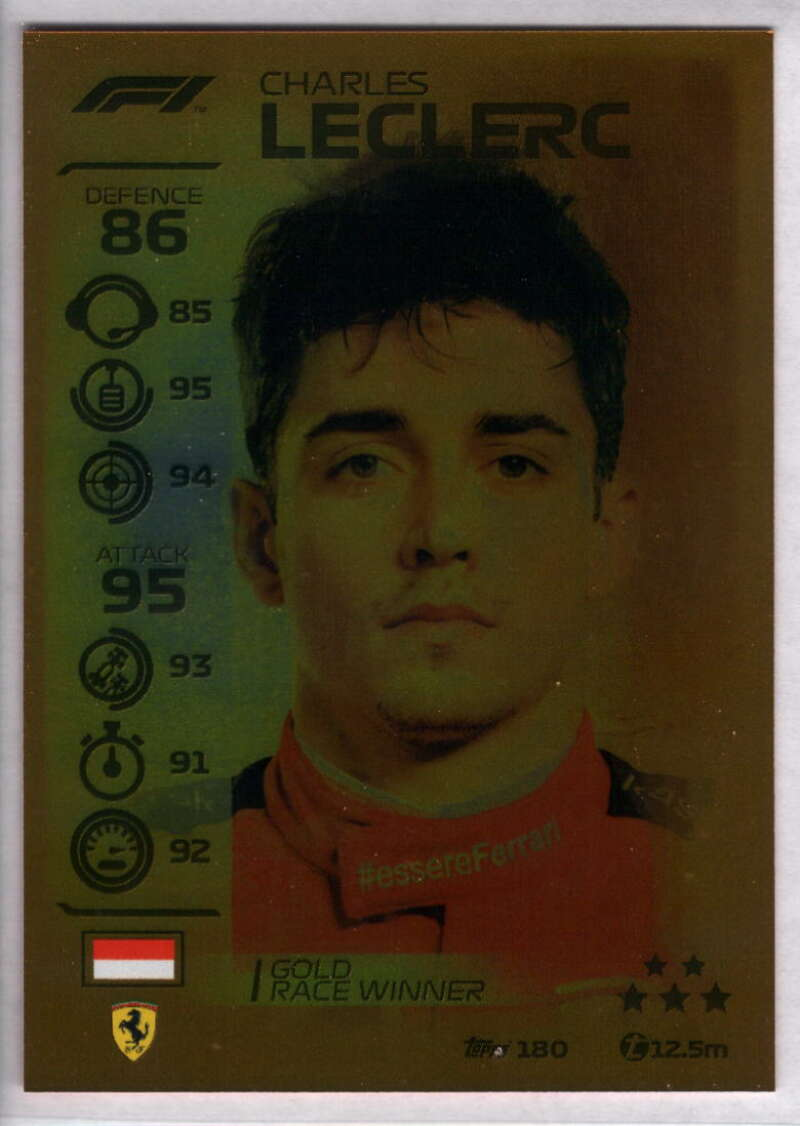 2020 Topps Turbo Attax Formula 1 #180 Charles Leclerc NM-MT+ Ferrari