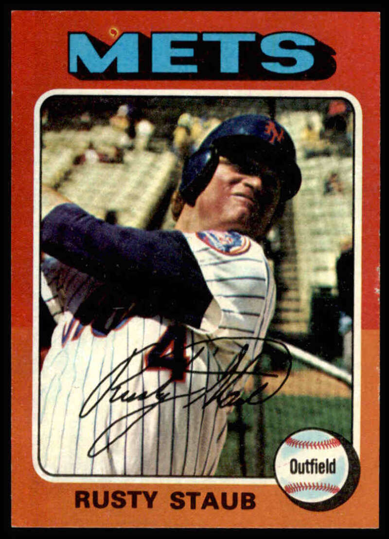 1975 Topps #90 Rusty Staub NM Near Mint New York Mets