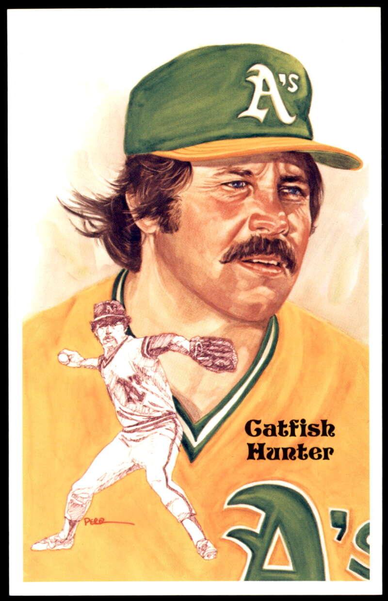 1980 Perez-Steele Hall of Fame Series 1-15 #198 Catfish Hunter NM-MT /10000 Oakland Athletics