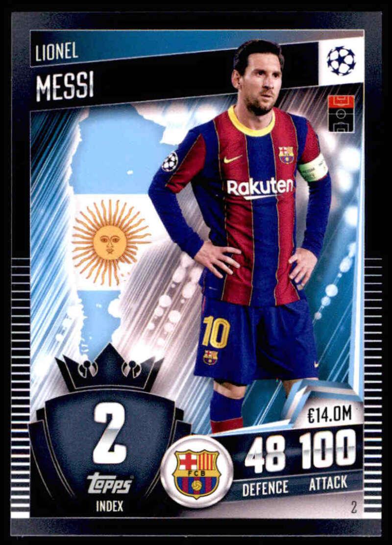 2021 Topps Match Attax 101 #2 Lionel Messi NM-MT+ FC Barcelona