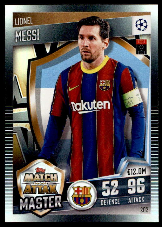 2021 Topps Match Attax 101 #202 Lionel Messi Match Attax Master NM-MT+ FC Barcelona