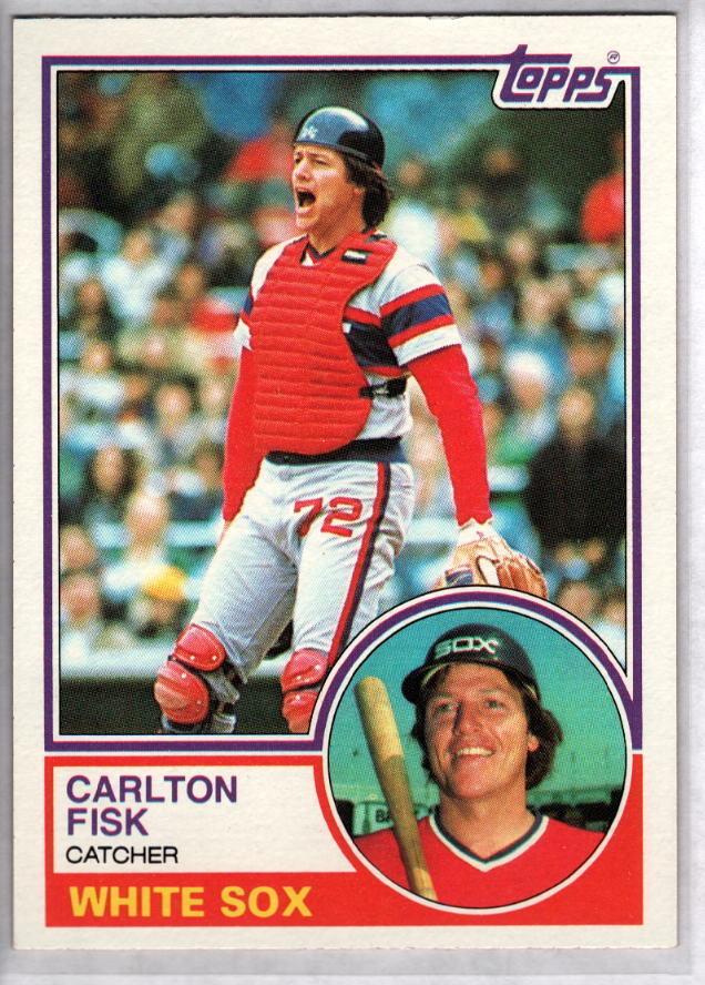 Carlton Fisk 1983: CARLTON FISK 1983 Topps #20