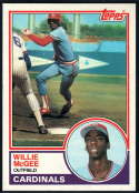 1983 Topps #49 Willie McGee NM-MT RC
