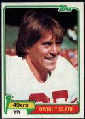1981 Topps #422 Dwight Clark NM Near Mint RC