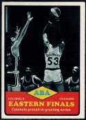 1973-74 Topps #207 Eastern Finals EX/NM Kentucky Colonels/vs. Carolina Cougars