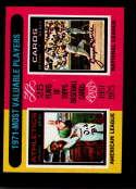 1975 Topps Mini #209 1971 's Vida Blue/Joe Torre MVP EX/NM Oakland Athletics/St. Louis Cardinals
