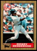 1987 Topps Tiffany #735 Rickey Henderson NM Near Mint New York Yankees