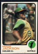 1973 Topps #255 Reggie Jackson EX/NM Oakland Athletics