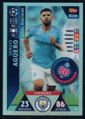 2018-19 Topps UEFA Champions League Match Attax #161 Sergio Aguero NM-MT+ Manchester City FC