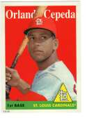2019 Topps Archives 5x7 #45 Orlando Cepeda NM-MT+ /49 St. Louis Cardinals