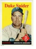 2019 Topps Archives 5x7 #20 Duke Snider NM-MT+ /49 Brooklyn Dodgers