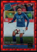 2018-19 Donruss Press Proof Red #192 Federico Chiesa Rated Rookie NM-MT+ Italy