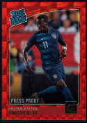 2018-19 Donruss Press Proof Red #198 Timothy Weah Rated Rookie NM-MT+ United States