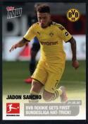 2020 Topps Now Bundesliga #165 Jadon Sancho /3437 Borussia Dortmund