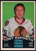 1970-71 O-Pee-Chee #250 Tony Esposito Vezina Trophy EX/NM Chicago Blackhawks